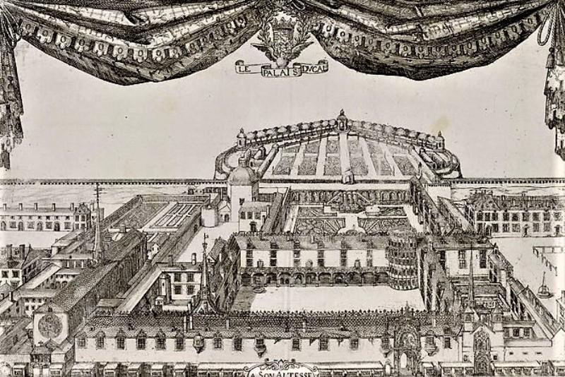 Nancy, palais Ducal au XVe siècle