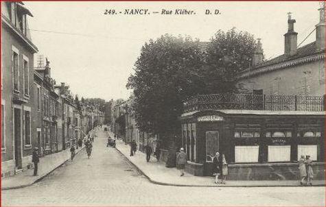 Nancy hier, rue Kleber