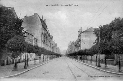 Nancy hier, avenue Anatole France