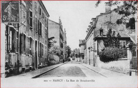 Nancy hier, rue de Boudonville