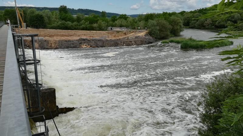 Nancy, centrale sur la Meurthe