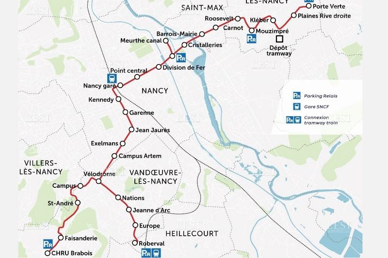nouveau tramway du Grand Nancy