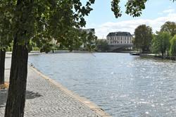 Nancy, le long de la Meurthe