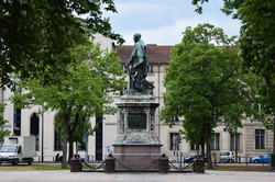 Nancy, rénovation statue Drouot