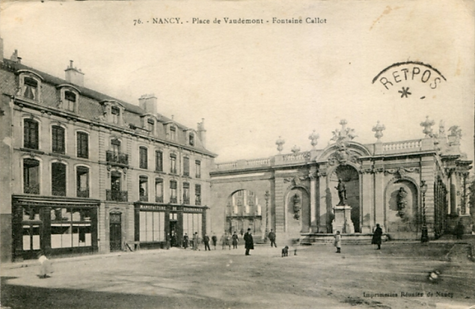 Nancy hier, place Vaudémont