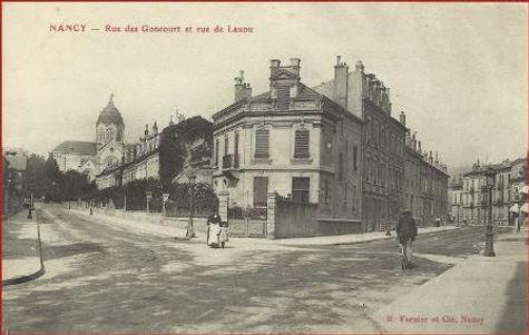 Nancy hier, rue des Goncourt
