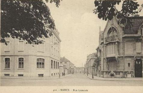 Nancy hier, rue Lionnois
