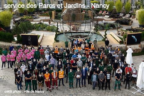 service des Parcs et Jardins, Nancy