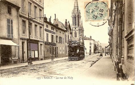 Nancy hier, rue de Metz