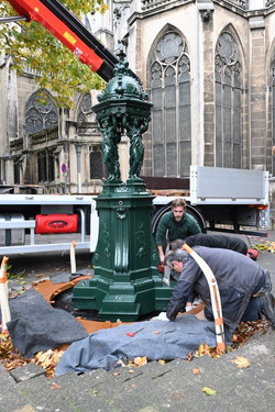 Nancy, restauration de la fontaine Wallace