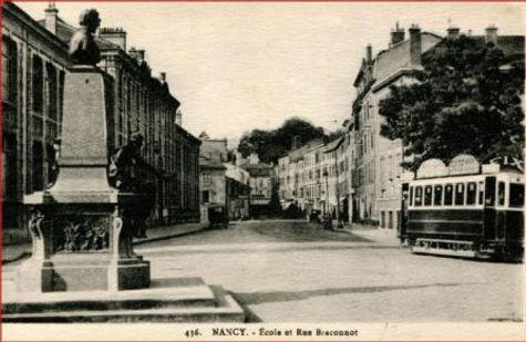 Nancy hier, rue Braconnot