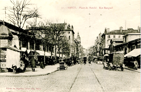 Nancy hier, marché central