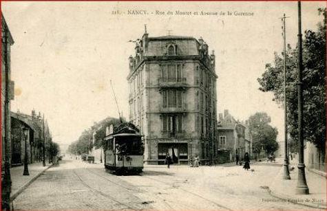 Nancy hier, avenue de la Garenne
