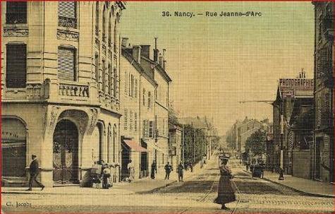 Nancy hier, rue Jeanne d'Arc