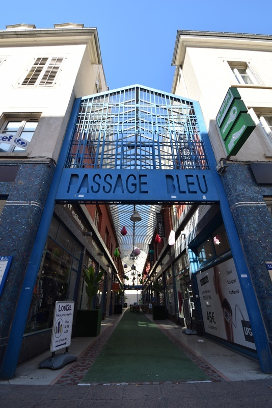 Nancy, le passage bleu