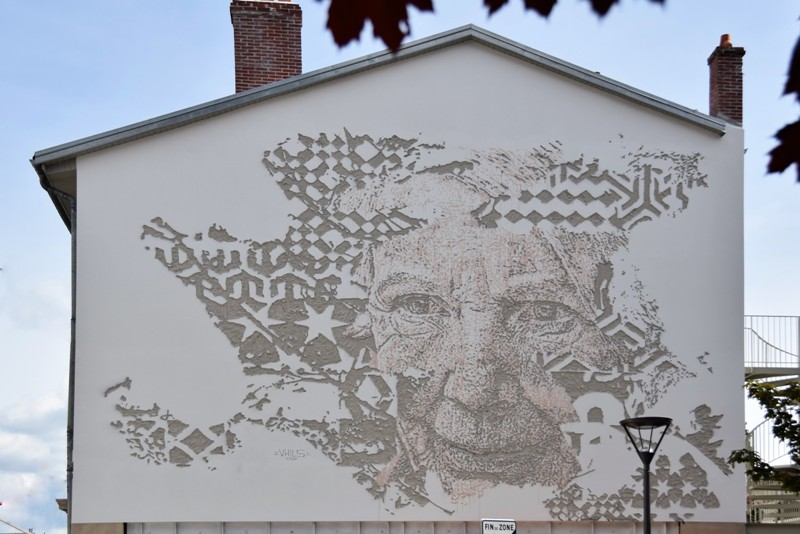 Nancy, fresque de Vhils