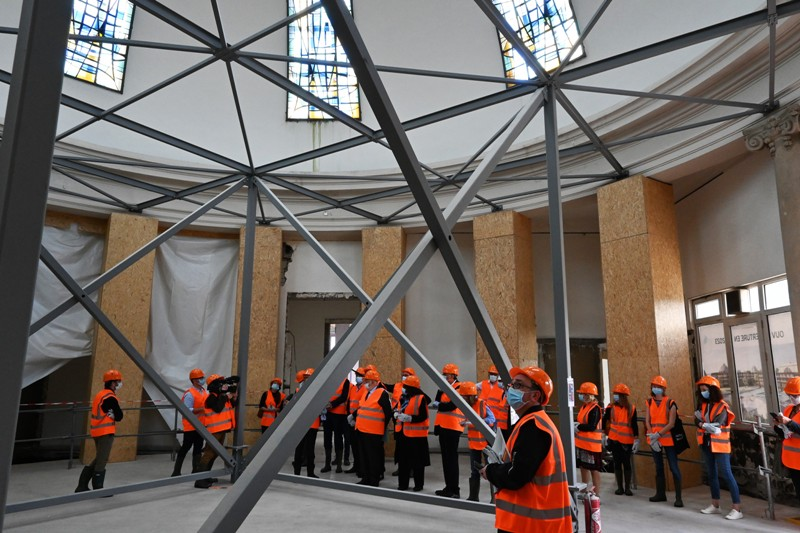Grand Nancy Thermal, 1ère visite de chantier