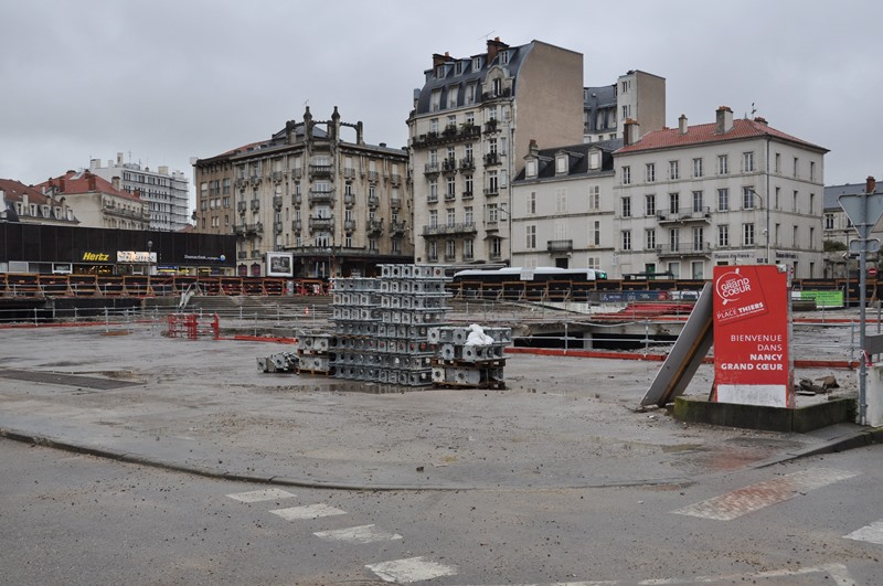 Nancy, restructuration place Thiers