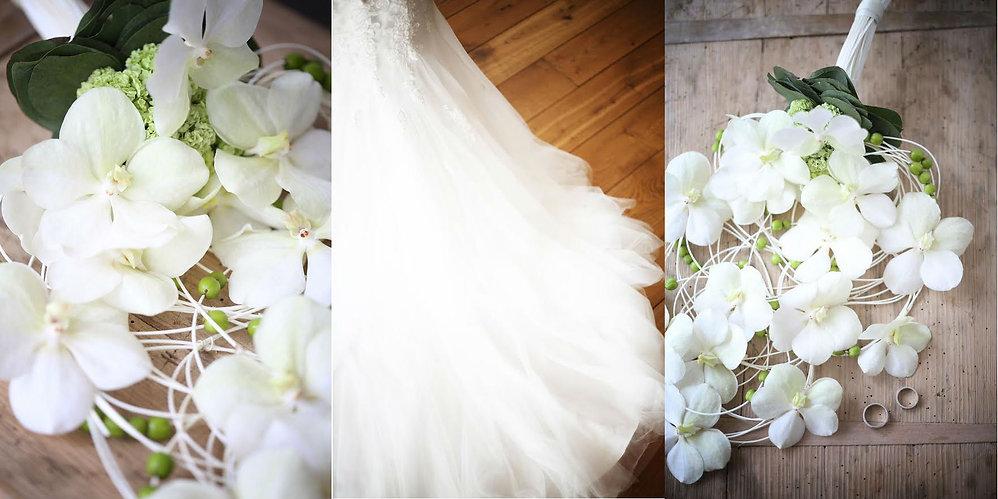 bruiloft; bruid; bruidsboeket; trouwringen; bruiloft