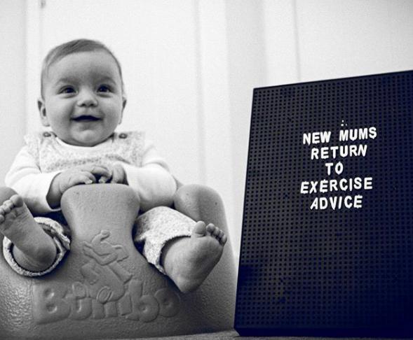 new mum exercise advice