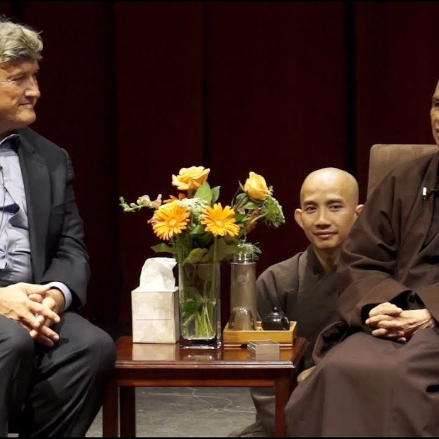 Stanford University CCARE w Thich Nhat Hanh and James Doty, MD