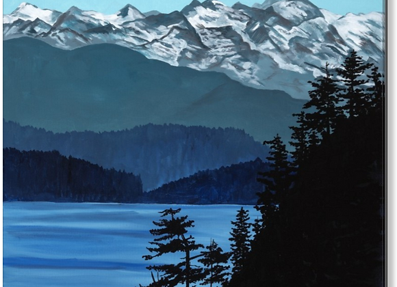 "PVG Olympic Mountains 30""x30"""