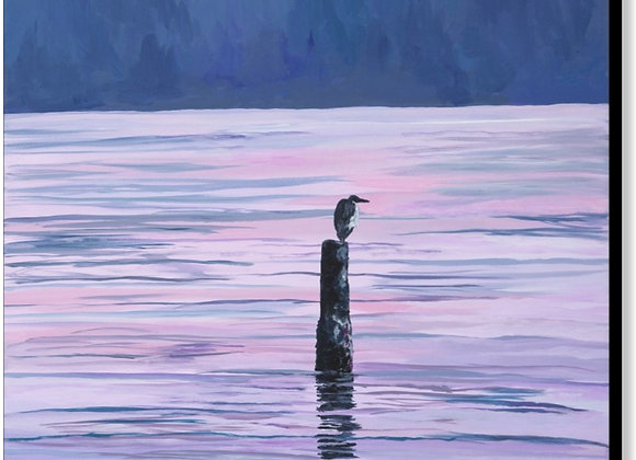"""PVG Heron's Patience 30""""x30"""" or 24""""x36"""""""