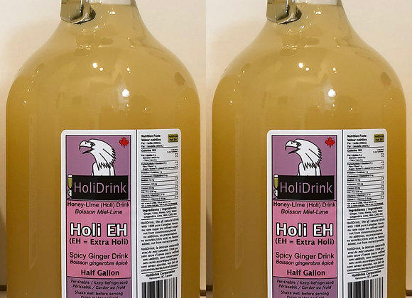2 pack of ½ Gallon Glass Bottles of HoliEH Spicy Ginger