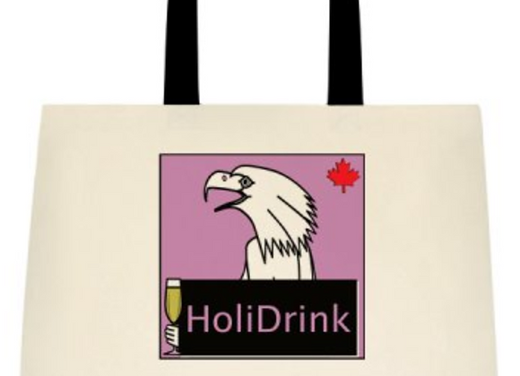 HoliDrink & HoliPop Deluxe Cotton Tote Bags