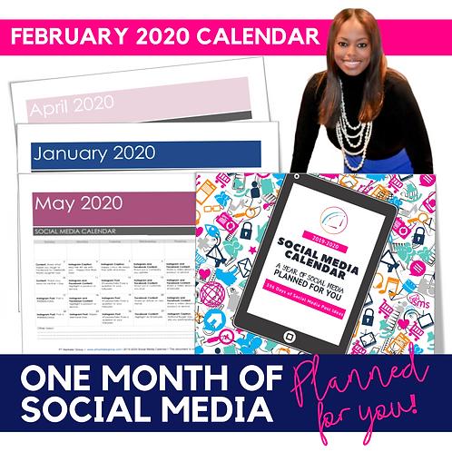 February 2020 - Social Media Calendar