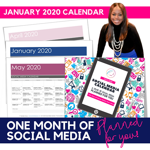 January 2020 - Social Media Calendar