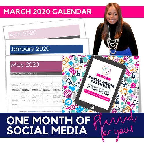 March 2020 - Social Media Calendar