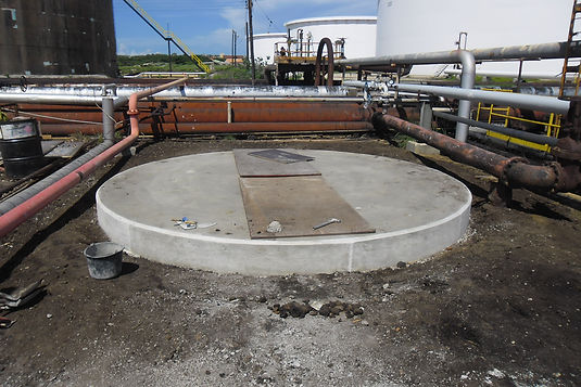 Base for WEB Tank inside Refinery