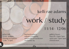 Kelli Rae Adams artist talk and exhibition reception today at Hartnett! 4:30pm