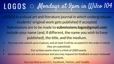 submit your work to logos!