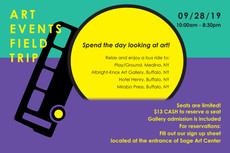 Join the Art Bus to Medina and Buffalo this Saturday! Spend the day looking at amazing art!