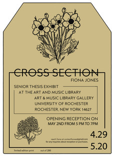 Senior Art Exhibition opening in the Gallery @ the Art and Music Library on 4/29!