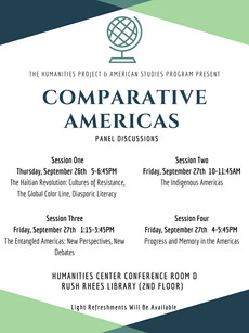 Comparative Americas Panel Discussions September 26 and 27