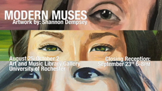 "closing reception tomorrow 6:00-8:00PM | ""modern muses"" by shannon dempsey 