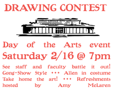 saturday @ 7pm – faculty/staff drawing contest in sage!