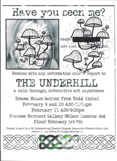 THE UNDERHILL - a walk-through, interactive art experience