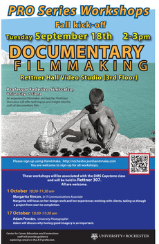 Documentary Filmmaking Workshops @ Rettner Hall Video Studio