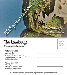 "tomorrow! artist talk and reception for ""the land(ing)"" - 4pm artist talk in humanities ce"