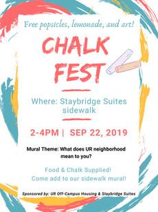 Calling all artists! Chalk Fest is September 22!