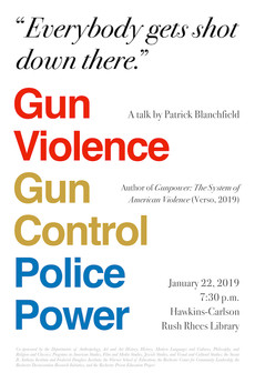 TALK 1/22 : Gun Violence, Gun Control, Police Power