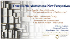 Talk 10/23: Transatlantic Abstractions - New Perspectives