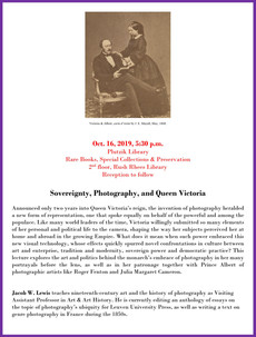 Talk 10/16: Sovereignty, Photography, and Queen Victoria
