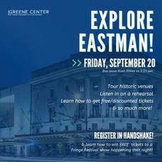 Explore Eastman on September 20!