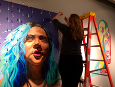 join us in asis gallery tomorrow @7pm for the 2015 paintallation reception: lyric