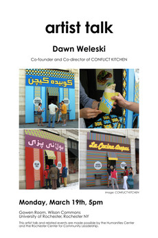 artist talk - Dawn Weleski - today at 5pm